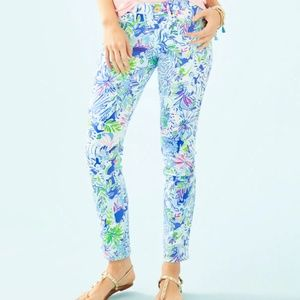 Lilly Pulitzer South Ocean Skinny Pant 10